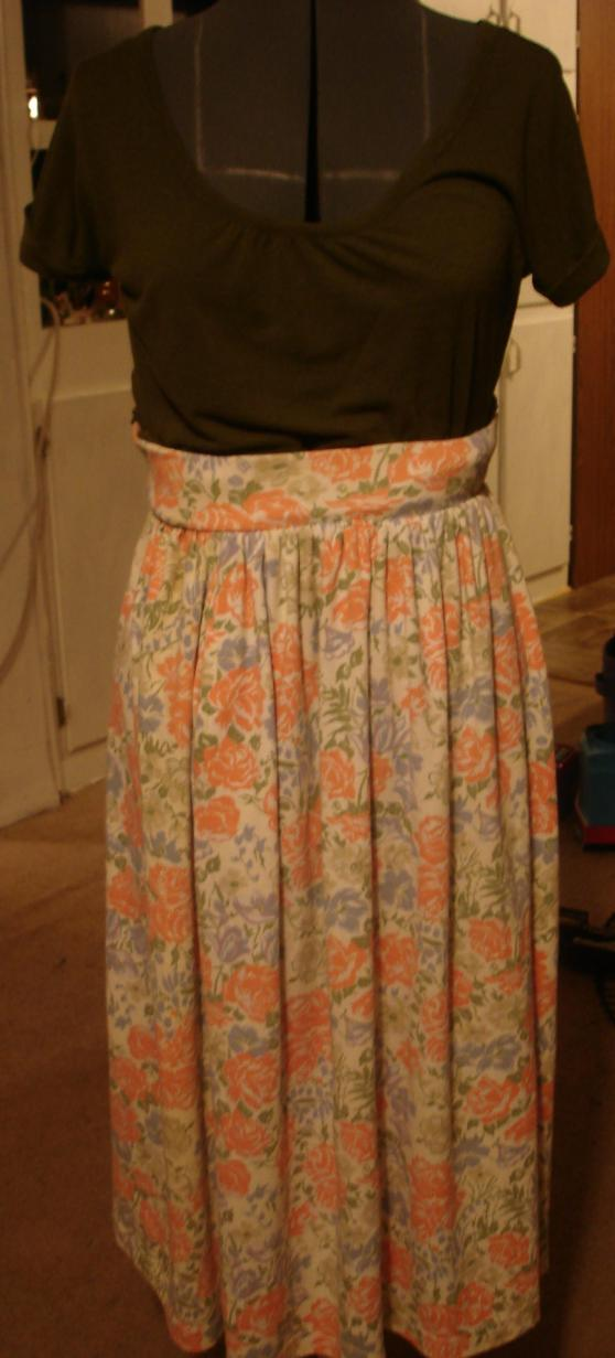 old lady skirt with olive