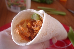Buffalo Chicken Wraps: Something Else to do with Leftover Whole Chicken