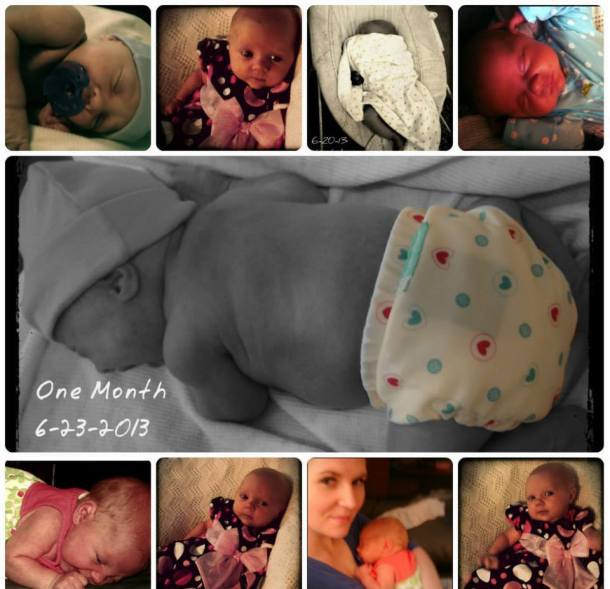 one month collage