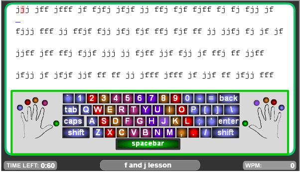typing lesson 1